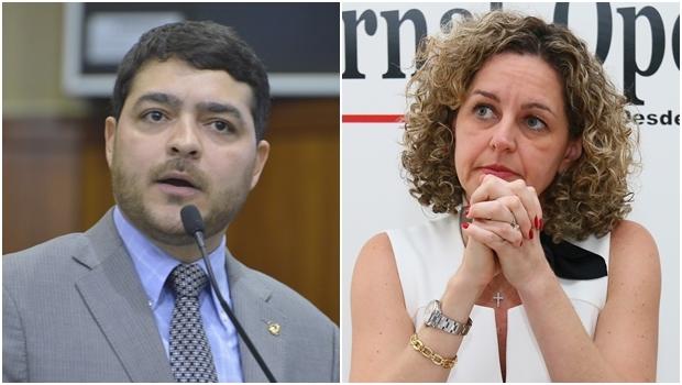 Henrique Arantes e Ana Carla Abrão Costa: os dois jovens deveriam abrir um debate sobre o crescimento e o desenvolvimento de Goiás   Fotos: Y. Maeda e Fernando Leite/Jornal Opção