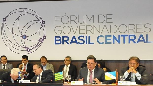 Governador Marconi Perillo em Cuiabá, durante Fórum dos Governadores do Brasil Central: deve ser eleito presidente | Foto: Lailson Damásio