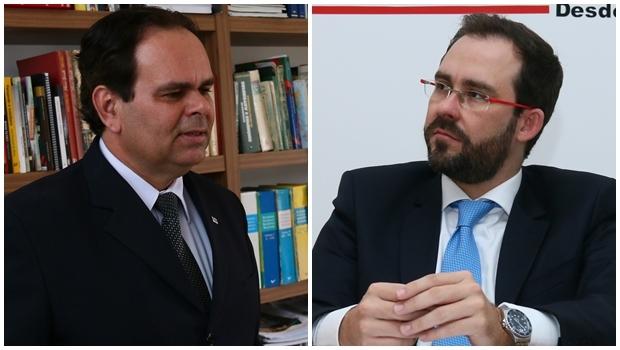 Alexandre Caiado e Lúcio Flávio   Foto: Fernando Leite/ Jornal Opção