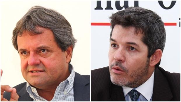 Jayme Rincón (esq) e Waldir Soares
