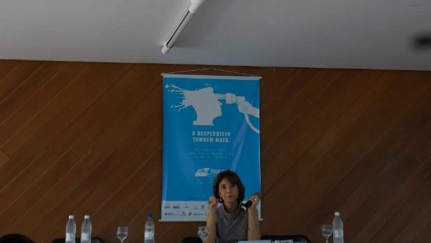 Secretária frisou que proposta original do festival, que é debater cinema e meio ambiente, teve mais força   Foto: Sarah Teófilo