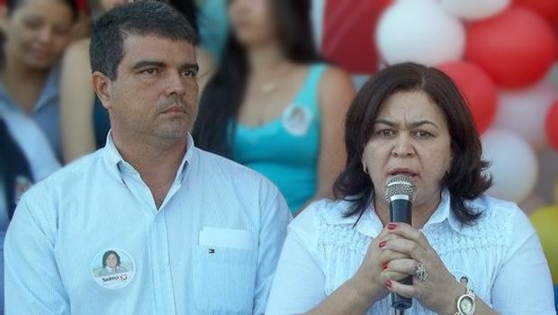Prefeita Selma Bastos e o vice, durante campanha de 2012: parceria acabou | Foto: reprodução / Facebook