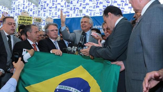 Com Caiado e deputados goianos, Congresso lança movimento pró-impeachment