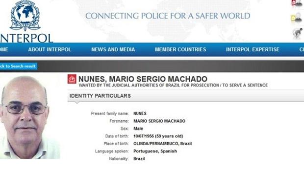 Goiano estava na lista de procurados da Interpol | Foto: Reprodução
