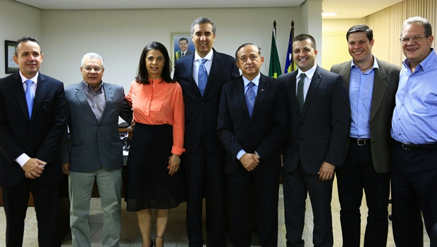 José Eliton recebe vereadores da bancada tucana na Câmara