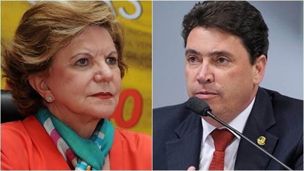 Lúcia Vânia e Wilder Morais avalizam Marconi para 2018 | Fotos: Renan Accioly e Lia de Paula / Agência Senado