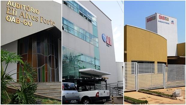 Auditório que leva o nome do advogado fundador do conjunto gestor; prédio de assistência localizado em frente à sede de Goiânia; e a sede da OAB de Trindade: todas obras do grupo OAB Forte