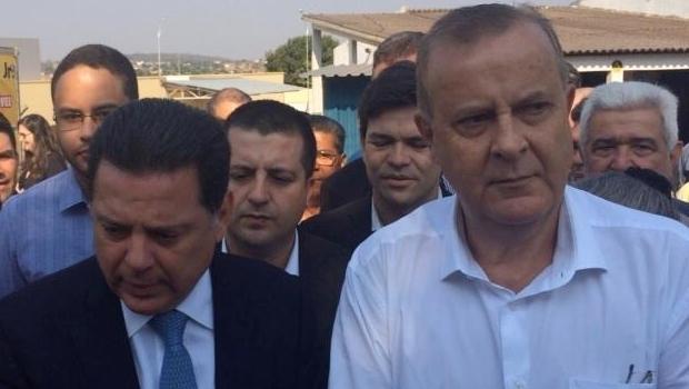 Governador Marconi Perillo e prefeito Paulo Garcia durante o evento nesta segunda | Foto: reprodução / Twitter