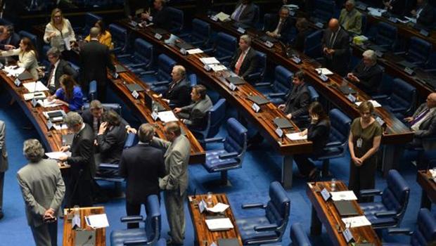 A votação do projeto que trata do financiamento de campanhas ainda não foi concluída no plenário do Senado | Fabio Rodrigues Pozzebom/Agência Brasil