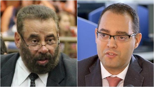 Vereador Paulo Magalhães (esq.) e deputado Virmondes Cruvinel | Fotos: Alberto Maia/Câmara de Goiânia e Y.Maeda/Assembleia Legislativa