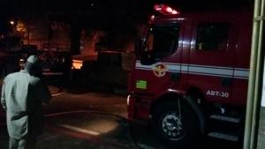 Corpo de Bombeiros no local do incêndio | Foto: TRT