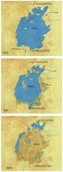 O que restou do Mar de Aral em menos de 50 anos: um crime ambiental que nenhuma tecnologia quer resolver e por qual nenhuma nação quer pagar