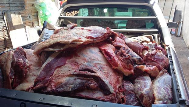 Duas toneladas de produtos de origem animal são apreendidas em Silvânia