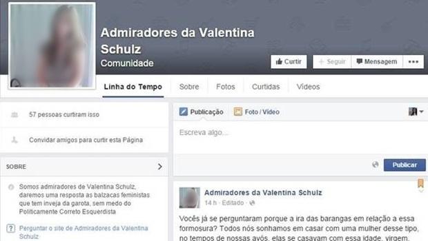 Até o fechamento da matéria, o Facebook já havia retirado a página do ar   Foto: Reprodução