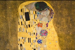 "Detail of Klimt's ""The Kiss"" at the Belvedere Palace Museum in Vienna, Austria. © Julia Pelish Photography (freelance: $50 for print, $25 for online use) Subject: The Kiss - Detail On 2011-05-17, at 3:39 PM, julia pelish wrote: Julia Pelish www.juliapelish.com www.juliapelish.com/blog 416.389.3691 Kiss-Detail.jpg"
