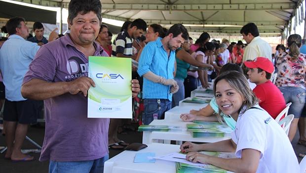 Beneficiário do programa durante evento na Região Noroeste da capital | Foto: Divulgação