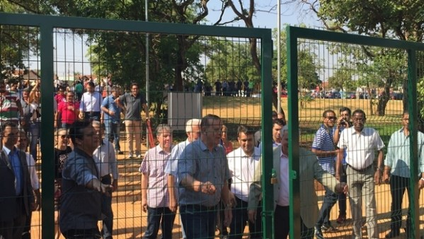 "Paulo Garcia e Vilmar Rocha ""abrem as portas"" do Puama | Foto: Alexandre Parrode"
