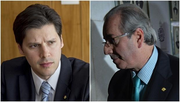 Daniel Vilela e o presidente da Câmara, Eduardo Cunha: PMDB vai se posicionar   Fotos: Naiara Pontes e Fábio Pozzebom / ABr