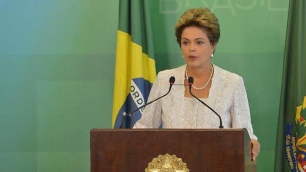 Presidente Dilma durante o anúncio | Foto: Antônio Cruz / ABr