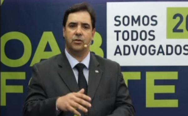 Candidato Flávio Buonaduce defendeu gestões da OAB Forte e a renovação | Foto: reprodução / TV Metrópole