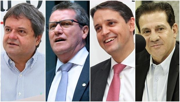 Jayme Rincón, prioridade do governador; Giuseppe Vecci pode entrar no páreo; Thiago Peixoto é consistente; Vanderlan Carsdoso tem se aproximado do tucano-chefe | Fotos: Jornal Opção / reprodução / Facebook