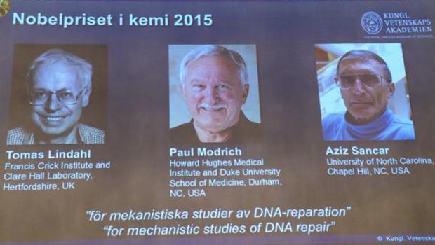 Nobel de Química sai para três pesquisadores da reparação de DNA