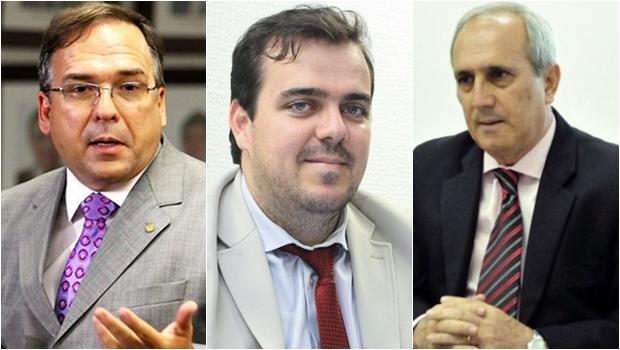Sandro Mabel (esq), Gustavo Mendanha e Euler Morais