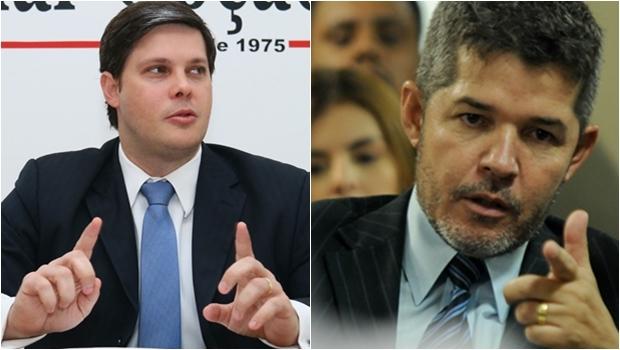 Rafael Louza e Delegado Waldir | Fotos: Renan Accioly e Fernando Leite