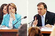 Raquel Teixeira e Sandro Mabel
