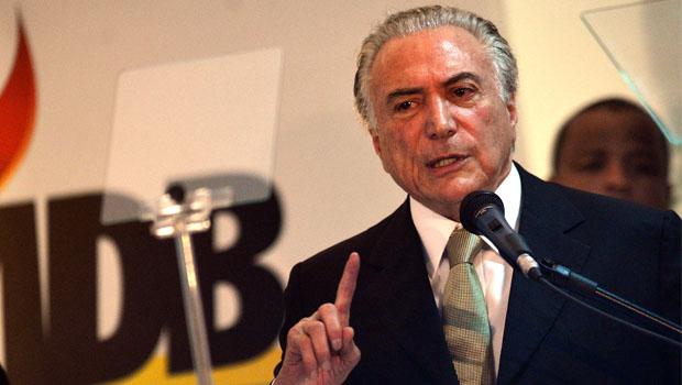 Michel Temer diz que respeita Iris Rezende mas que o PMDB goiano precisa se reoxigenar