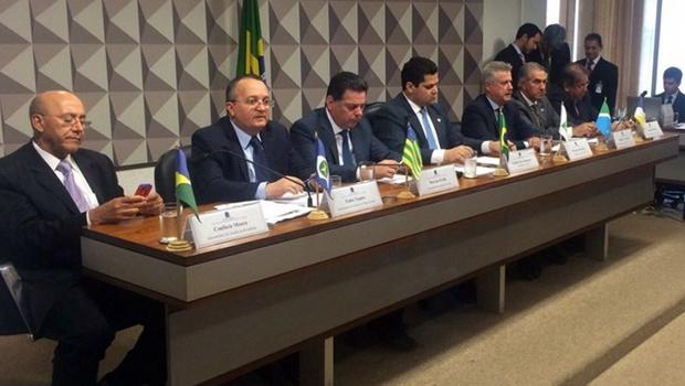 Governadores do Centro-Oeste e da Região Norte do País durante audiência   Foto: Reprodução/Twitter