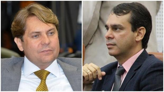 Deputado Bruno Peixoto (esq) e seu irmão, Wellington, ambos do PMDB | Y. Maeda/Assembleia e Alberto Maia/Câmara de Goiânia