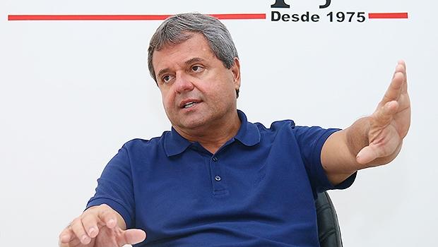 Presidente da Agetop durante entrevista nesta quarta-feira (18/11) | Foto: Fernando Leite / Jornal Opção