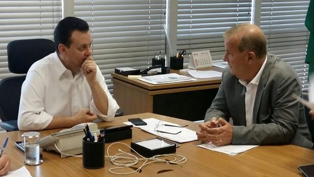 Gilberto Kassab e o prefeito, Paulo Garcia, em Brasília