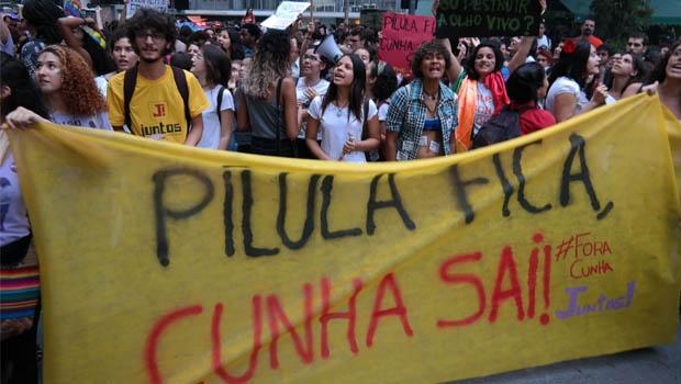 "Ato ""Mulheres contra Cunha"", no Rio de Janeiro | Foto: Vladimir Plantonow/Agência Brasil"