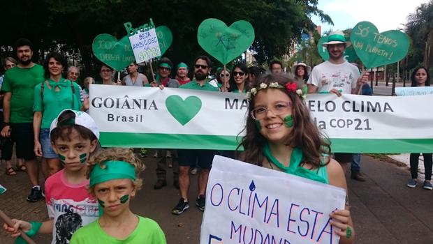 Goianienses vão às ruas em Marcha pelo Clima