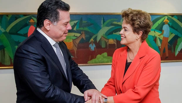 Governador Marconi e a presidente Dilma | Foto: Roberto Stuckert Filho