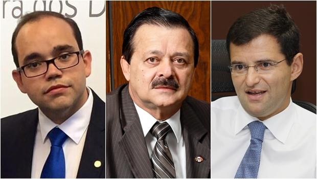 Fabio Sousa (esq), Jovair Arantes e Marcos Abrão | Fotos: Facebook e Divulgação
