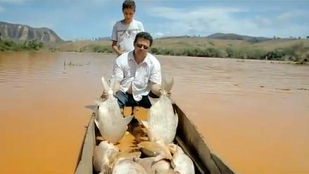 Pescadores choram ao ver peixes mortos no Espírito Santo
