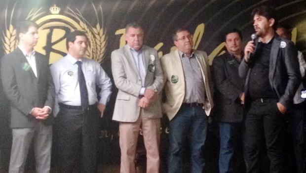 Flávio Buonaduce (segundo à esq) participa de lançamento de chapa | Divulgação