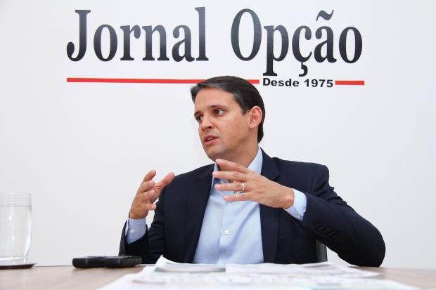 Thiago Peixoto em entrevista ao Jornal Opção, em 2015   Foto: Fernando Leite