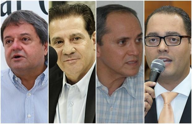 Jayme Rincón, Vanderlan, Bittencourt e Virmondes | Fotos: Jornal Opção / reprodução
