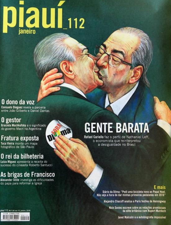 Ilustração tem inspiração em imagem do beijo entre líderes comunistas europeus no século XX   Imagem: Reprodução