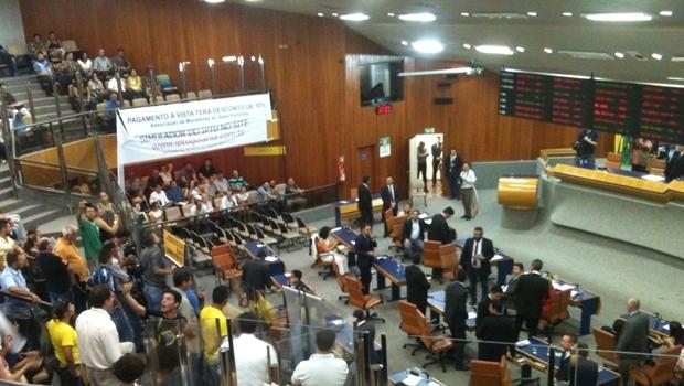 Câmara Municipal na manhã desta quarta-feira (2/12) | Foto: Marcello Dantas / Jornal Opção
