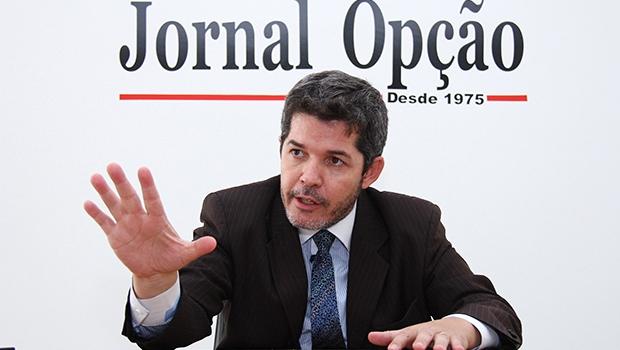 Delegado Waldir apresentou nesta sexta-feira (12/2) os 22 pelos quais desistiu das prévias | Foto: Fernando Leite/Jornal Opção
