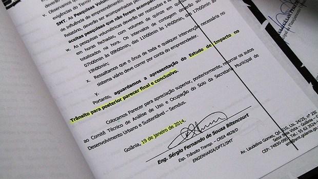 Em setembro, Jornal Opção mostrou que o EIV recebeu parecer contrário em 2014 | Marcello Dantas
