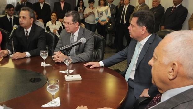 Governador Marconi Perillo durante a posse de João Furtado e Manoel Xavier   Foto: Marco Monteiro