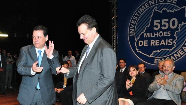 Marconi e Kassab celebram repasse de R$ 550 milhões para obras de saneamento em Goiás