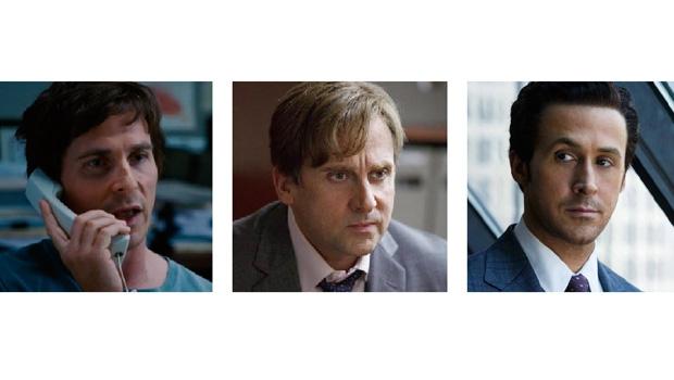 """Os atores Christian Bale, Steve Carell e Ryan Gosling brilham em """"A Grande Aposta"""", filme que descortina, de maneira competente, a crise americana de 2008. Poucos perceberam o buraco negro do mercado financeiro"""