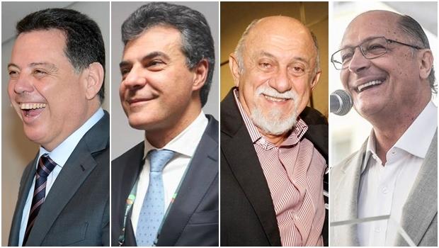 Marconi Perillo, Beto Richa, Simão Jatene e Geraldo Alckmin: tucanos avaliados pelo instituto | Fotos: Governo de Goiás / reprodução / Facebook